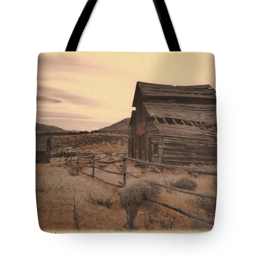 Vintage Tote Bag featuring the photograph The Old West by Doug Matthews