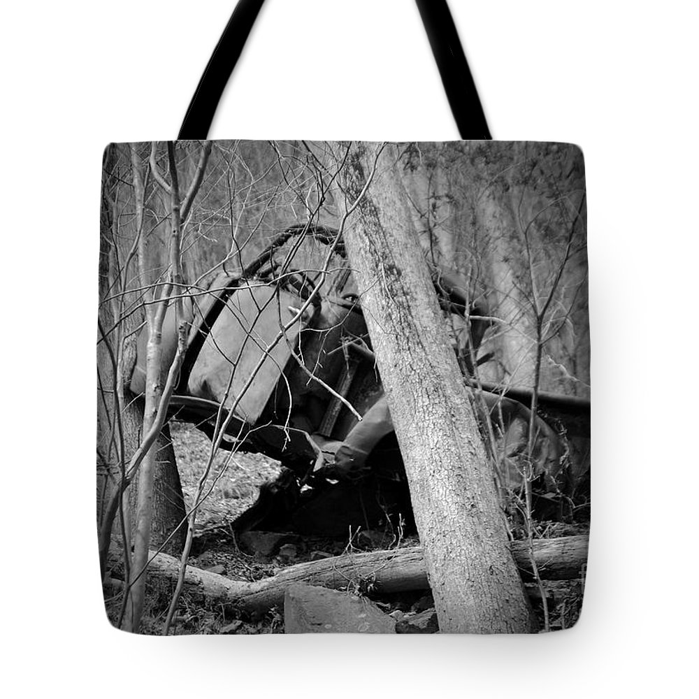 Amicalola Tote Bag featuring the photograph The Old Wreck by Jost Houk
