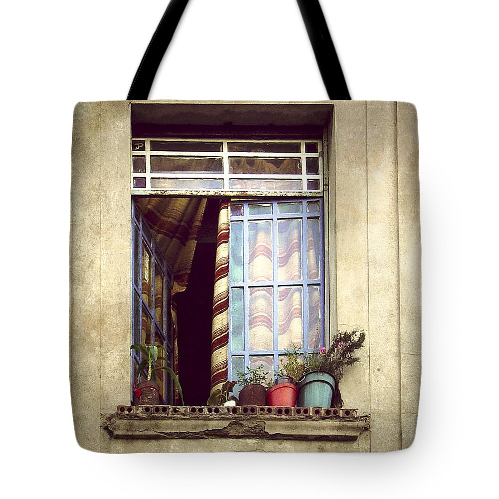 Window Tote Bag featuring the photograph The Open Window by Julie Palencia