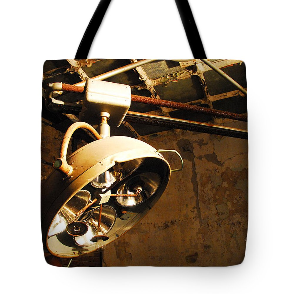 Operations Tote Bag featuring the photograph The Operating Room by Cindy Manero