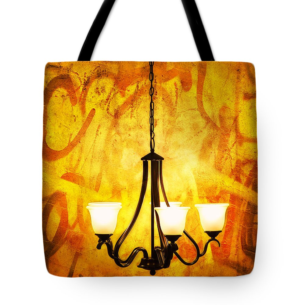 Objects Tote Bag featuring the photograph The Orange Lamp by Eyzen M Kim