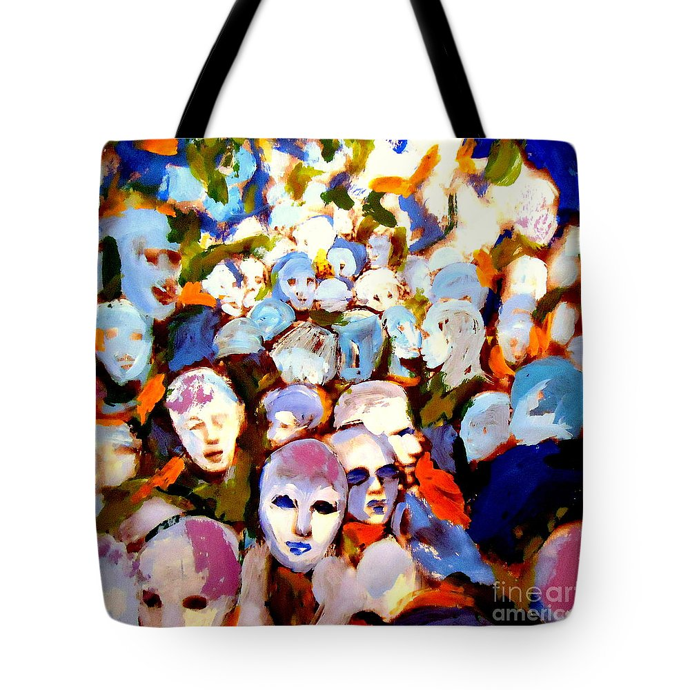 People Tote Bag featuring the painting Other Side by Helena Wierzbicki