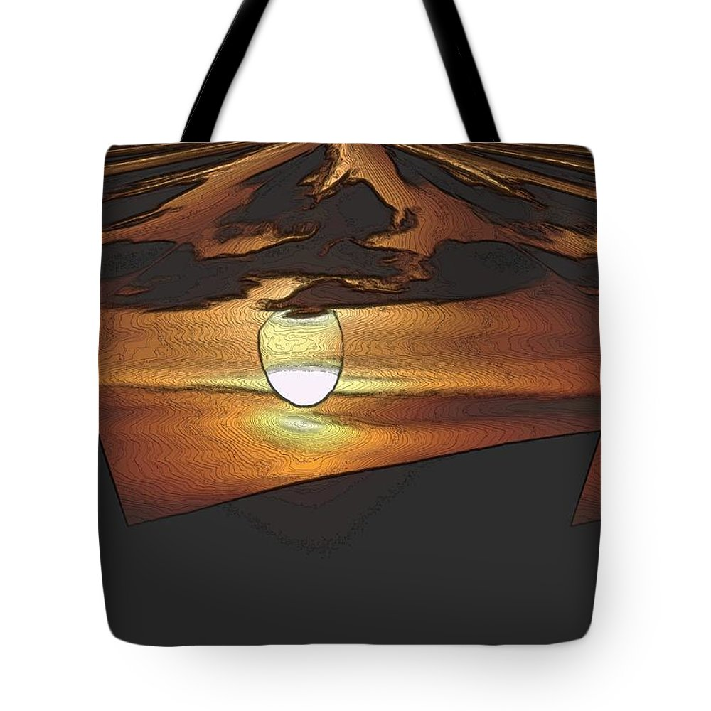 Sun Tote Bag featuring the photograph The Other World by Jeff Swan