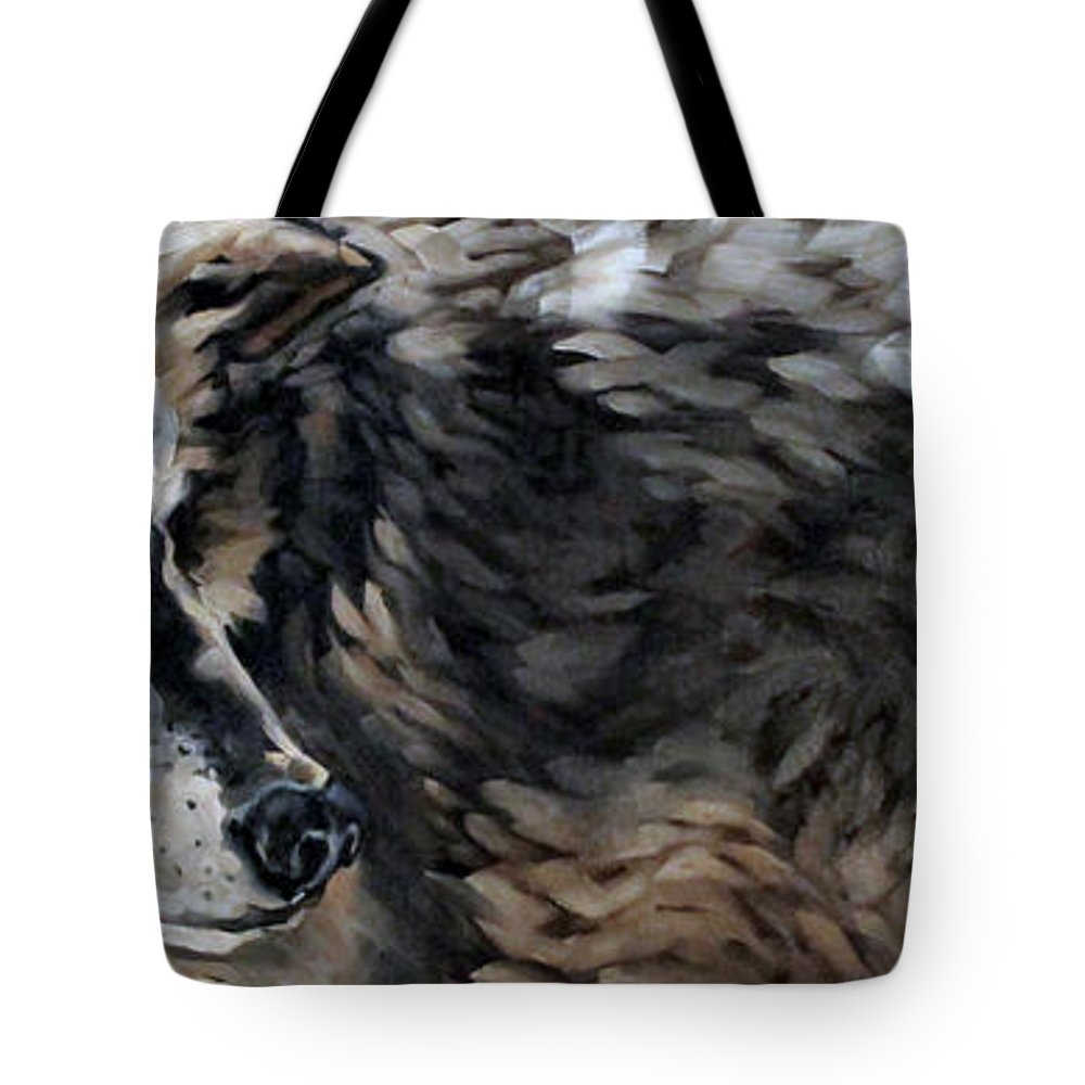 Animals Tote Bag featuring the painting The Outsider by Carrie Cook