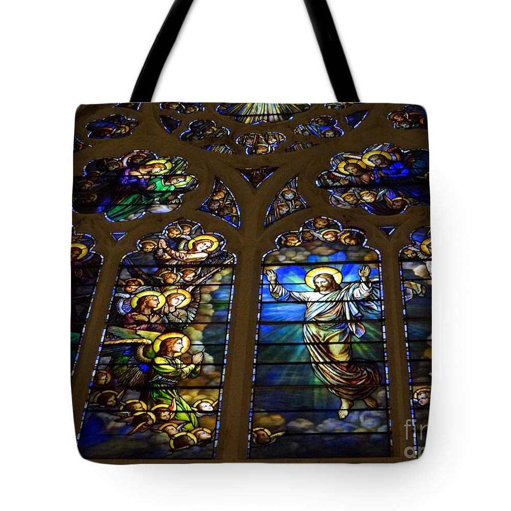 Stained Glass Tote Bag featuring the photograph The Panes Of Love by Ed Weidman
