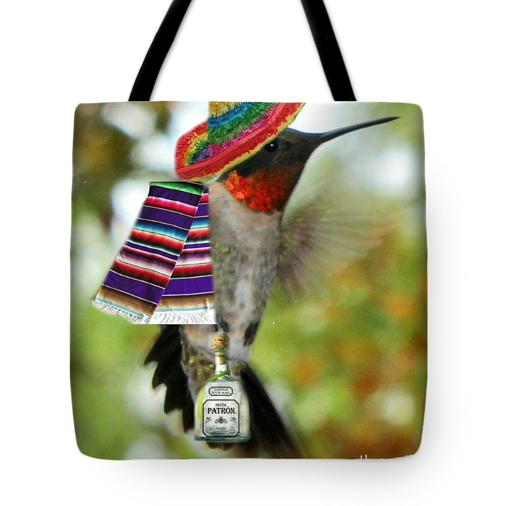 Art Tote Bag featuring the digital art The Partying Hummer by Diane V Bouse