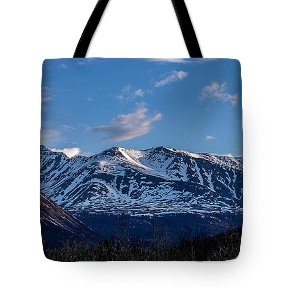 Mountains Tote Bag featuring the photograph The Pass by Thomas Sellberg