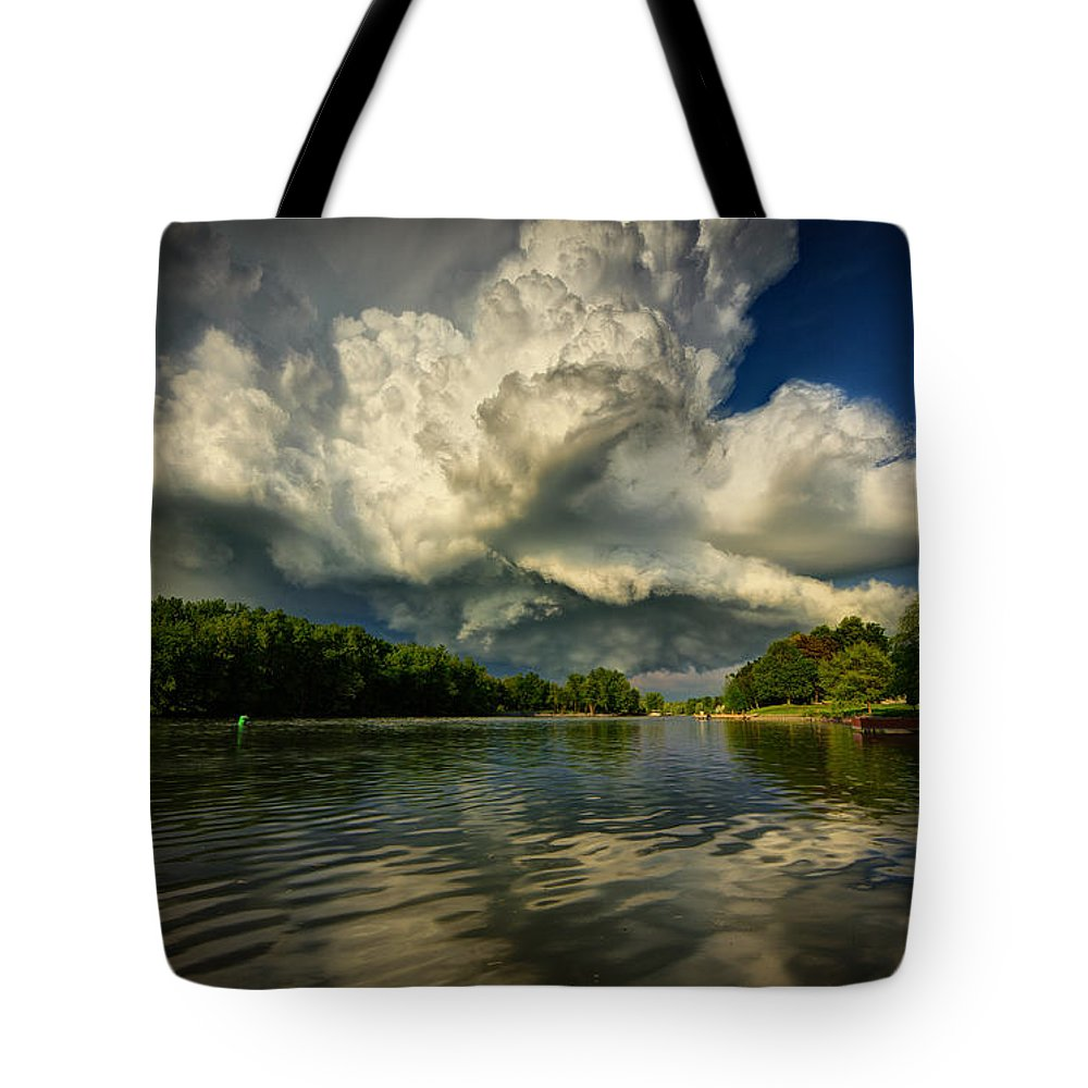 Storm Tote Bag featuring the photograph The Passing Storm by Everet Regal