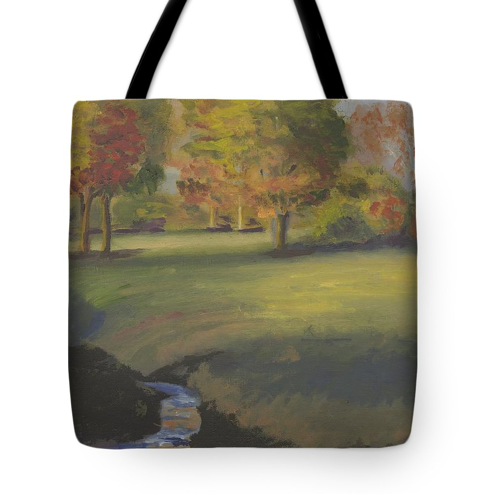 Landscape Tote Bag featuring the painting The Pasture by Gloria Condon