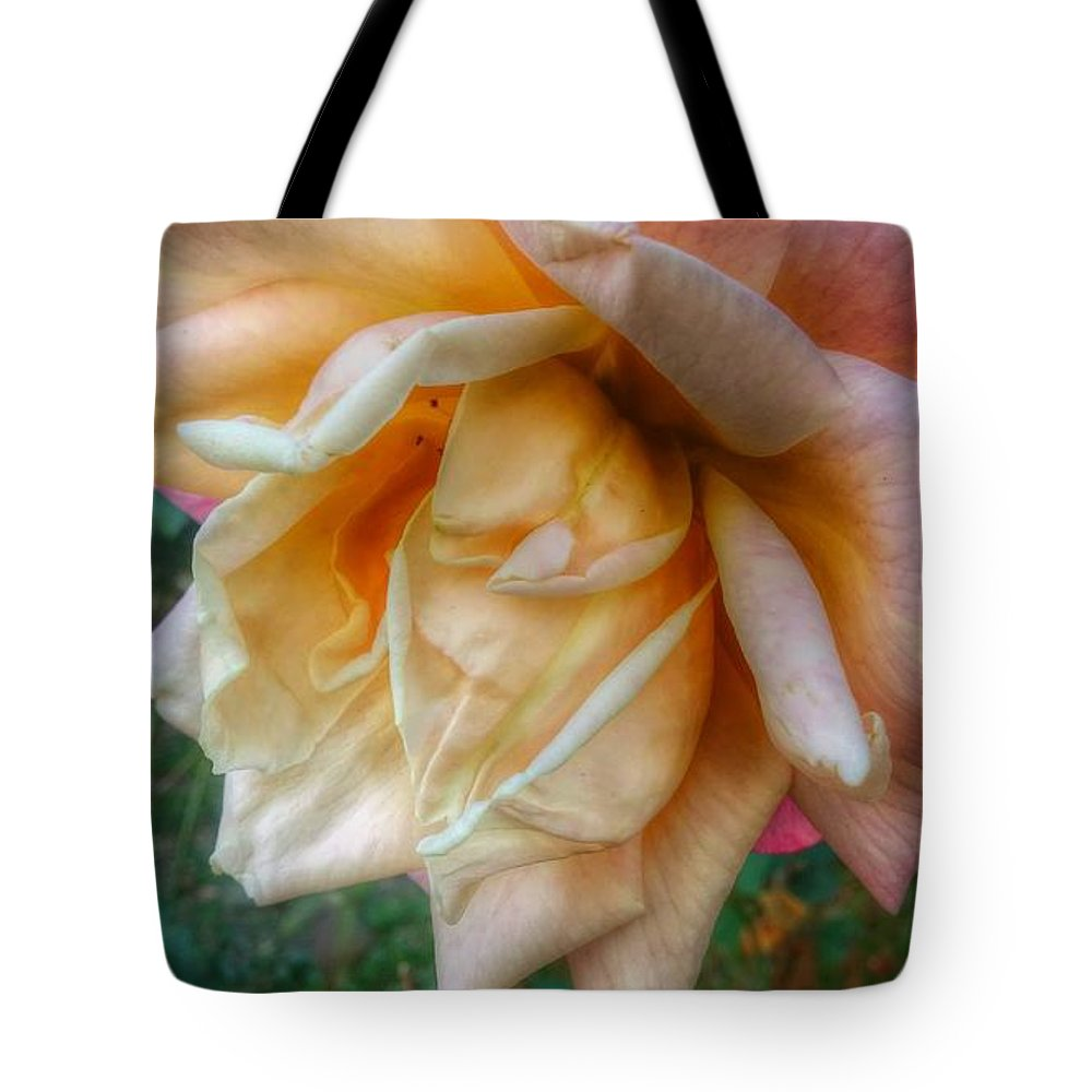 Love Tote Bag featuring the photograph The Peach Rose by Melissa Coffield