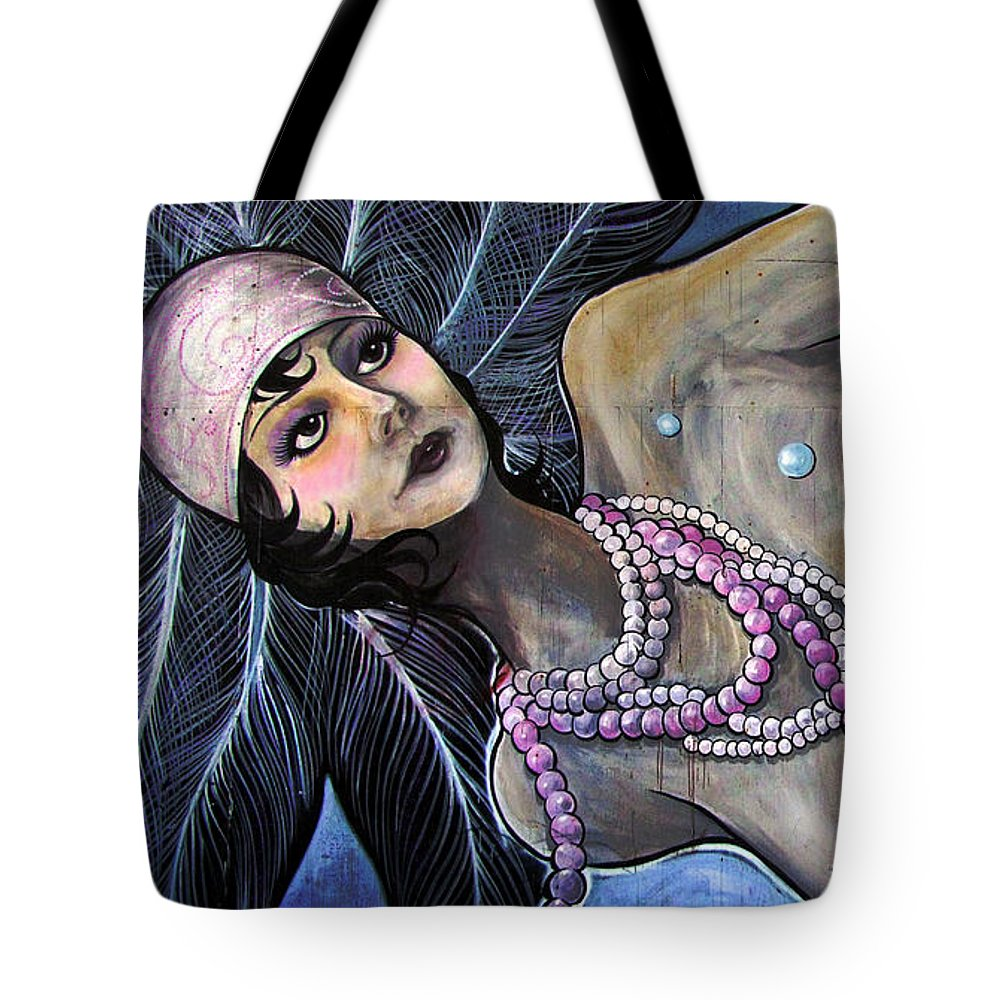 Mermaid Tote Bag featuring the photograph The Pearl Mermaid by Colleen Kammerer