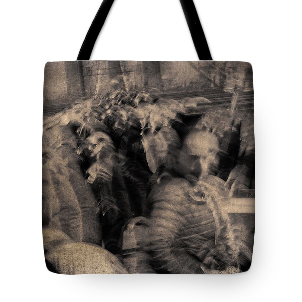 New York Tote Bag featuring the photograph The People by Eric Ferrar