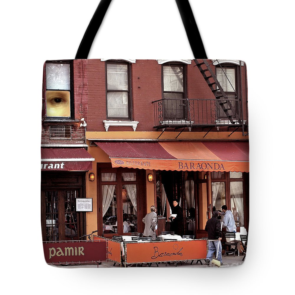 Restaurant Tote Bag featuring the photograph The Photographer's Eye by Madeline Ellis