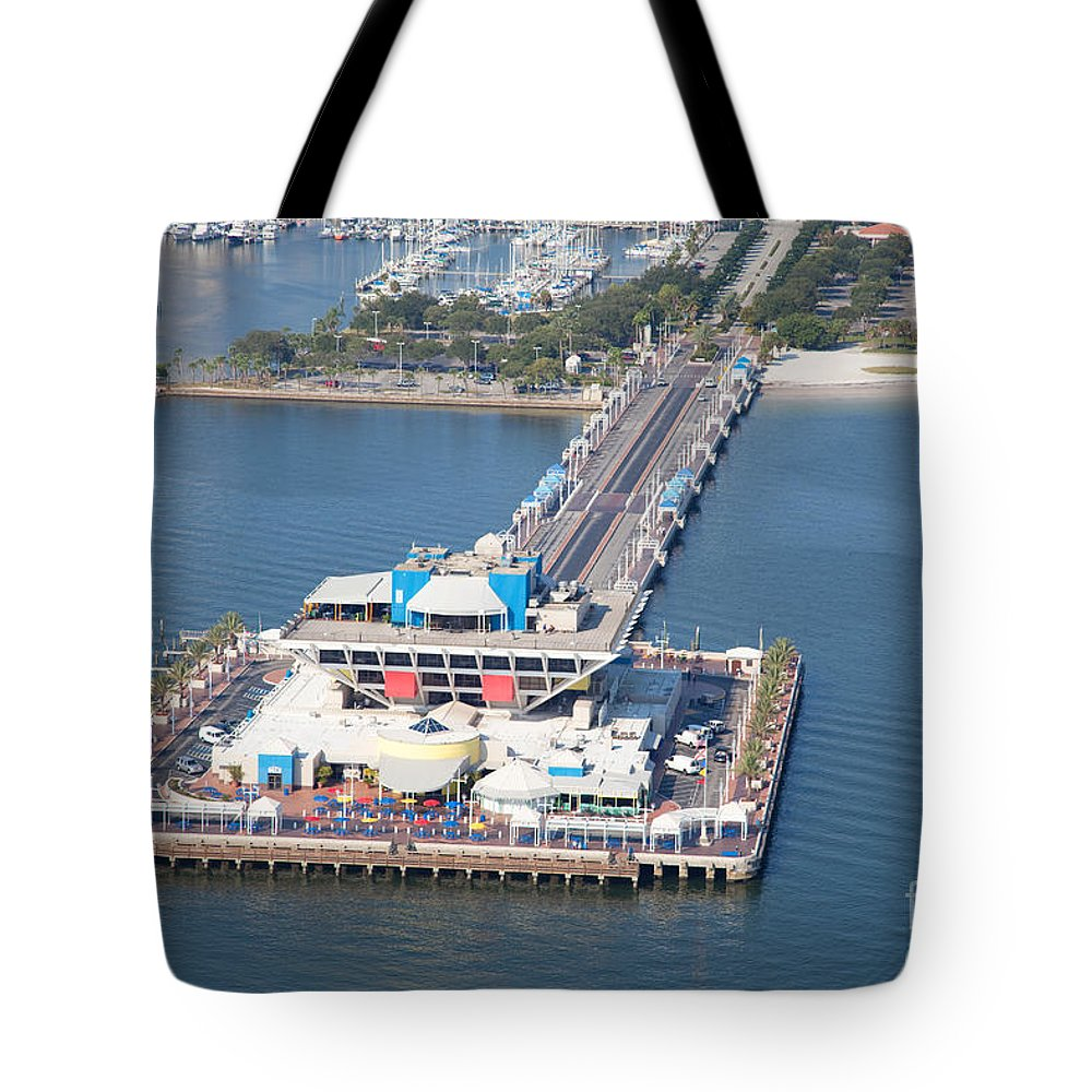 Florida Tote Bag featuring the photograph The Pier St Petersburg Florida by Bill Cobb