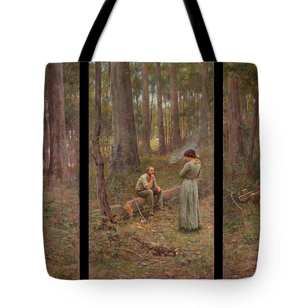 Frederick Mccubbin Tote Bag featuring the painting The pioneer by Frederick McCubbin