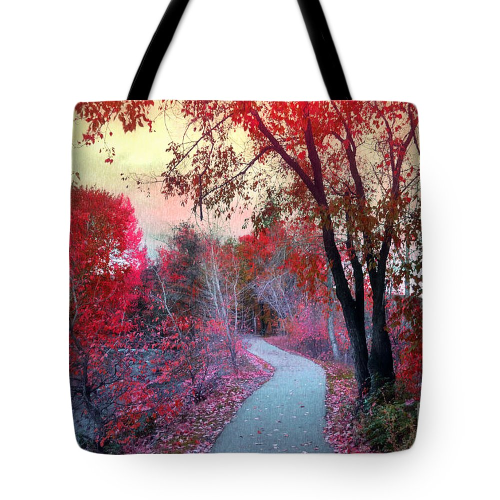 Path Tote Bag featuring the photograph The Pondering Path by Tara Turner
