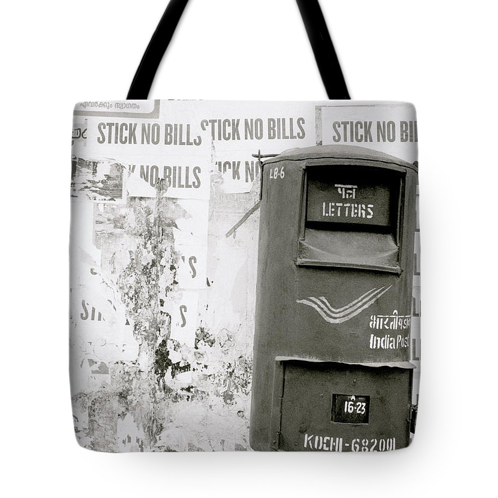 Post Tote Bag featuring the photograph The Postal Service by Shaun Higson