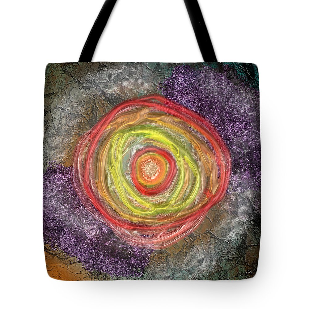 Power Tote Bag featuring the digital art The Power Within by Michael Hurwitz