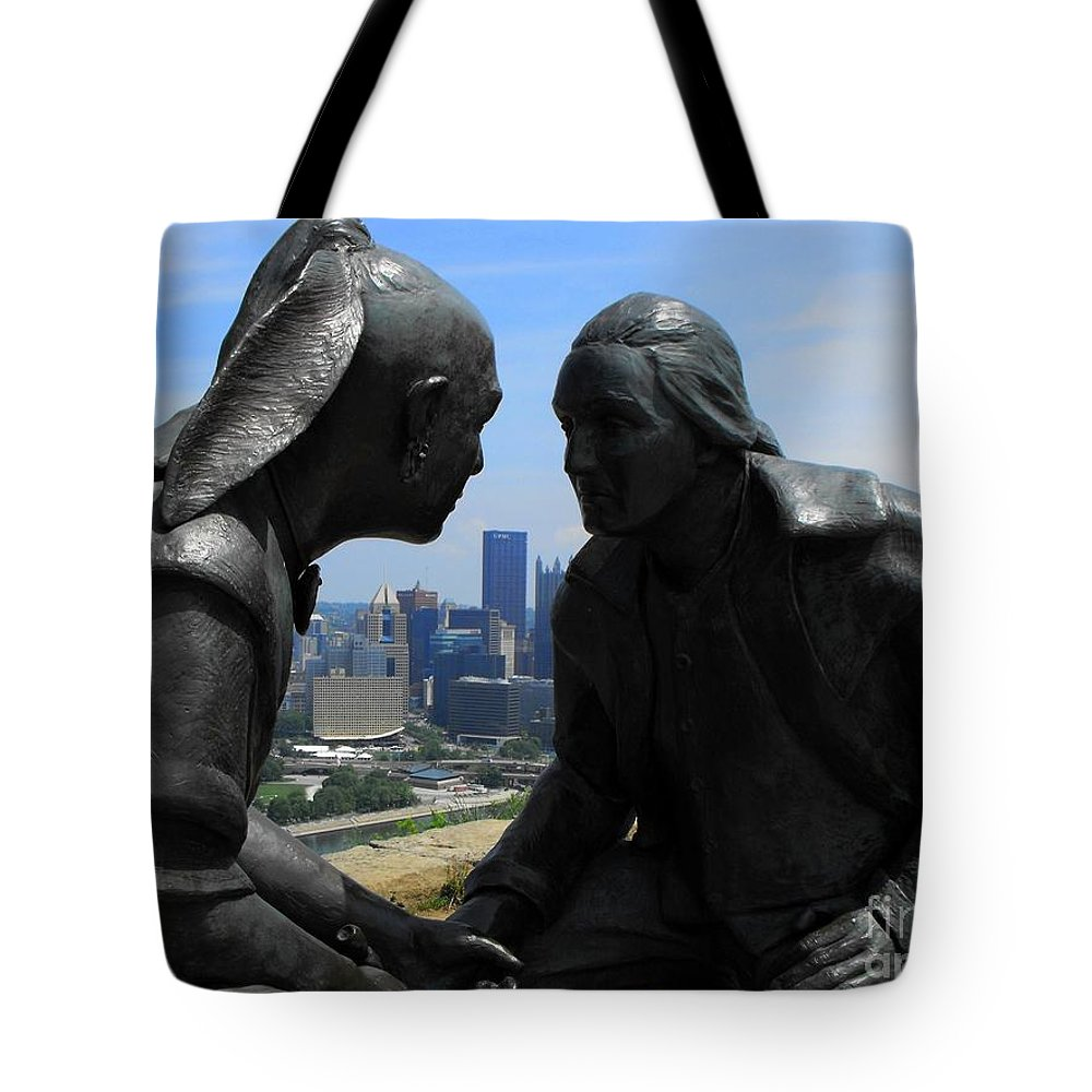 George Washington Tote Bag featuring the photograph The President And The Chief by Spencer McKain