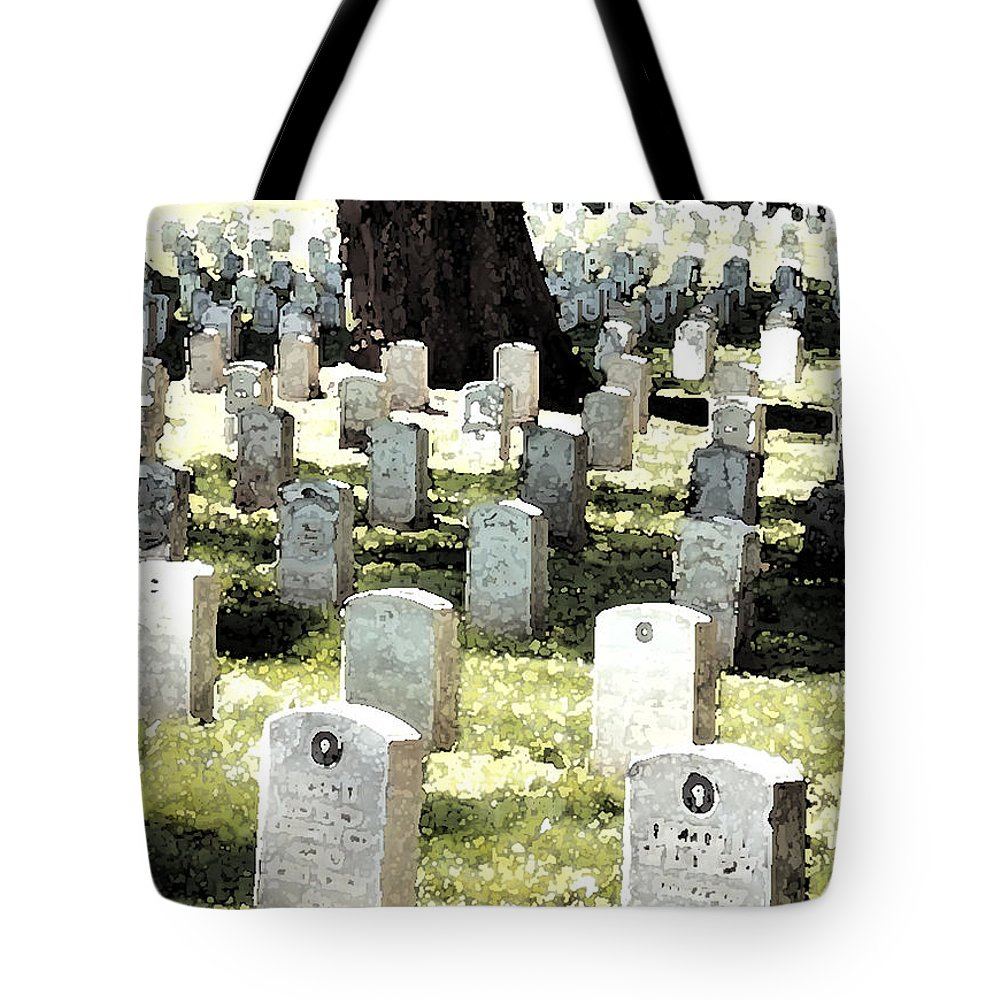 Tomb Stones Tote Bag featuring the photograph The Presidio by Flamingo Graphix John Ellis