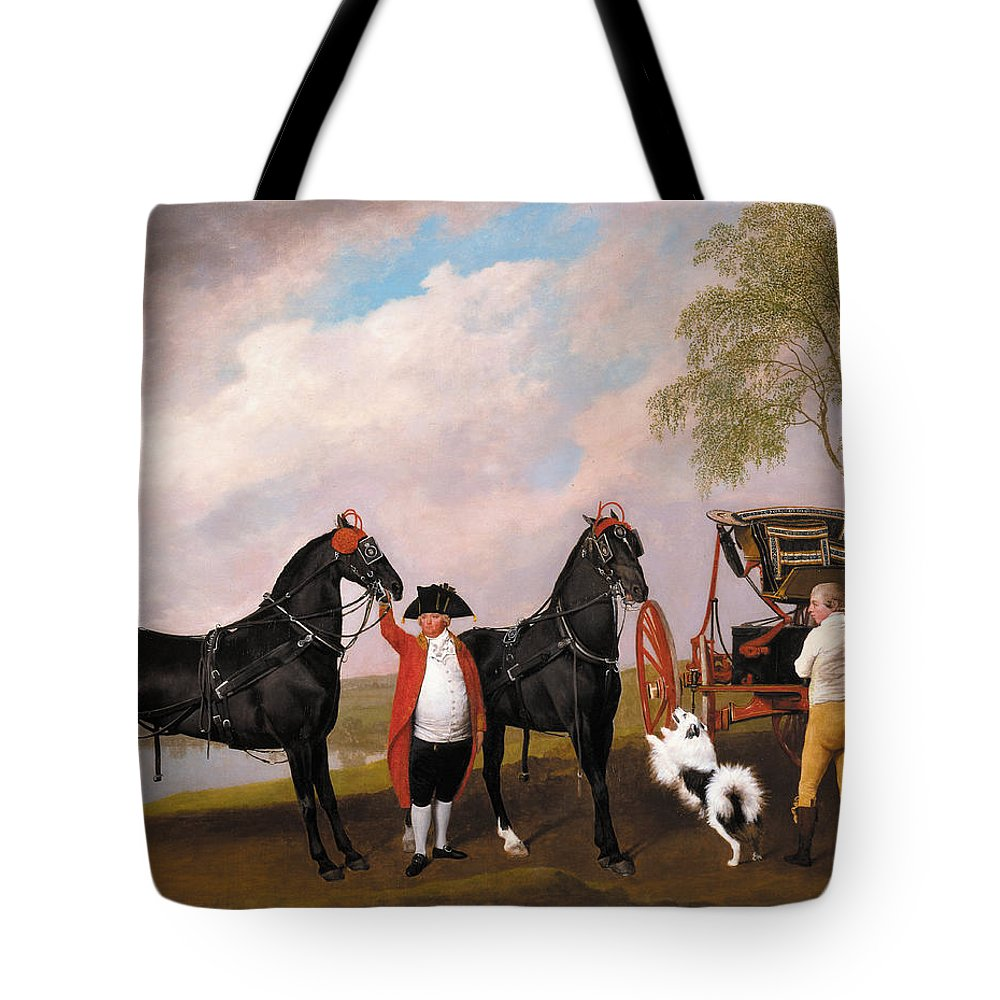 George Stubbs Tote Bag featuring the painting The Prince Of Wales Phaeton by George Stubbs