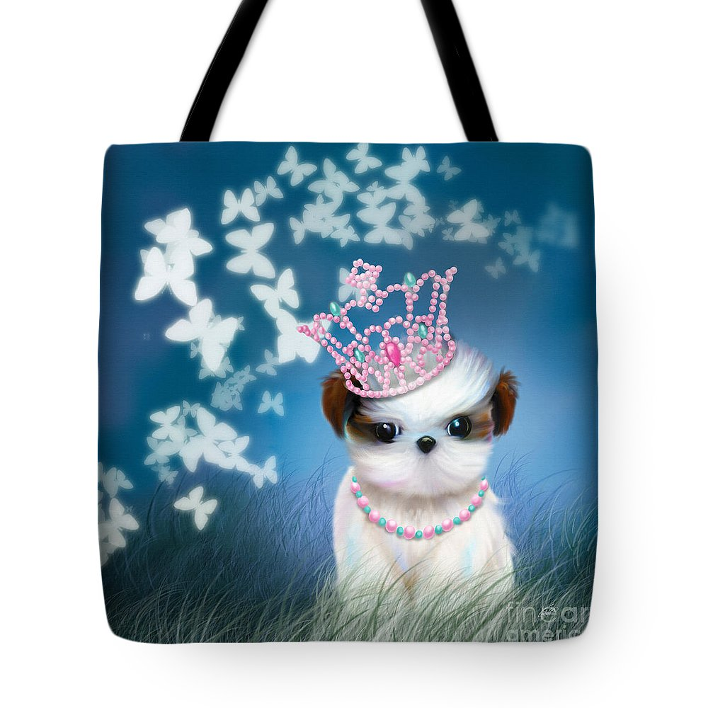 Princess Tote Bag featuring the mixed media The Princess by Catia Lee