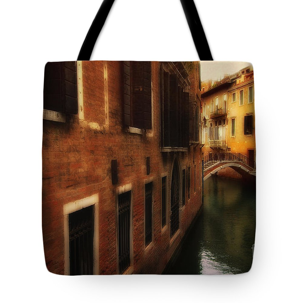 Venice Tote Bag featuring the photograph The Quiet Canal by Mike Nellums