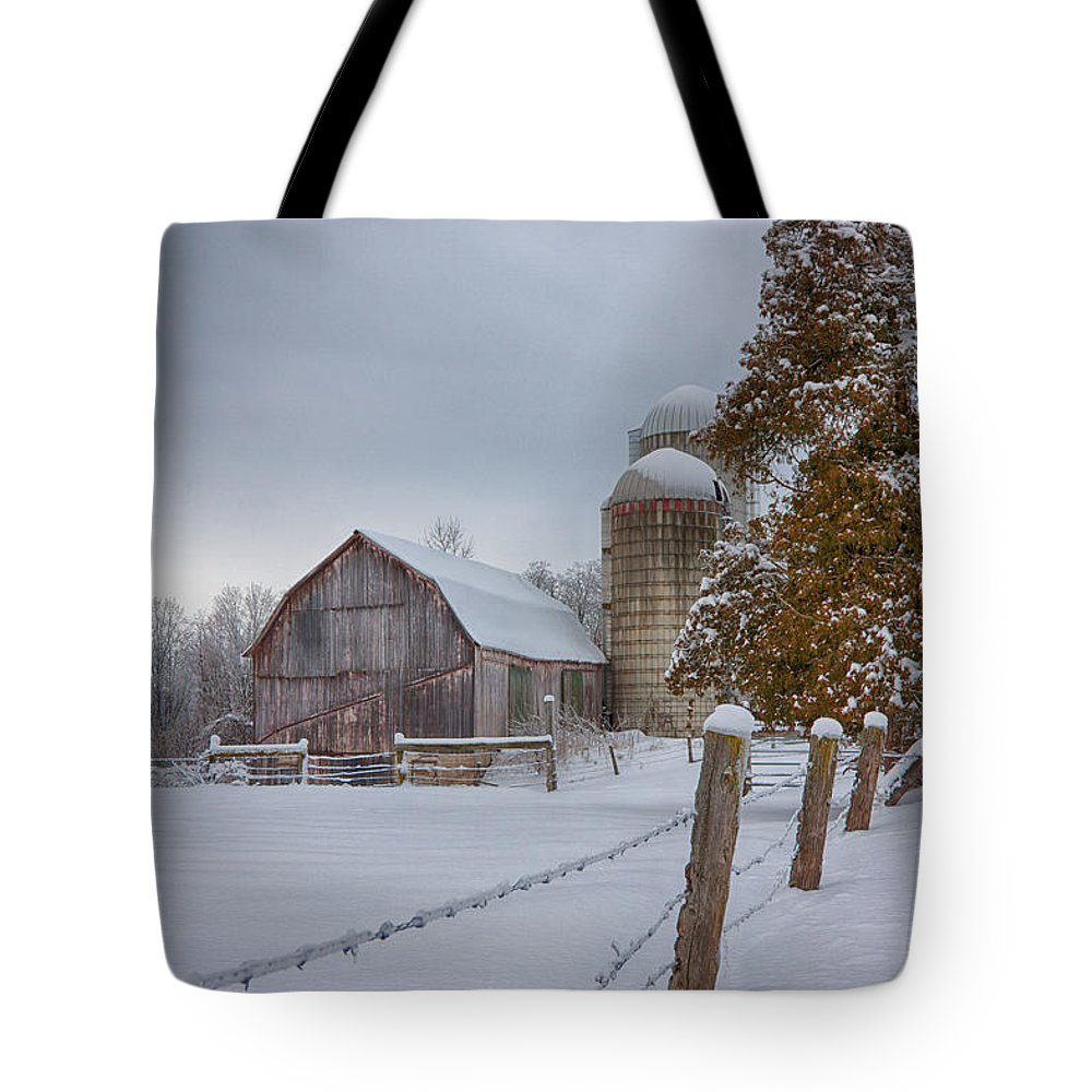 Scenic Vermont Photographs Tote Bag featuring the photograph The Quiet Waiting by Jeff Folger