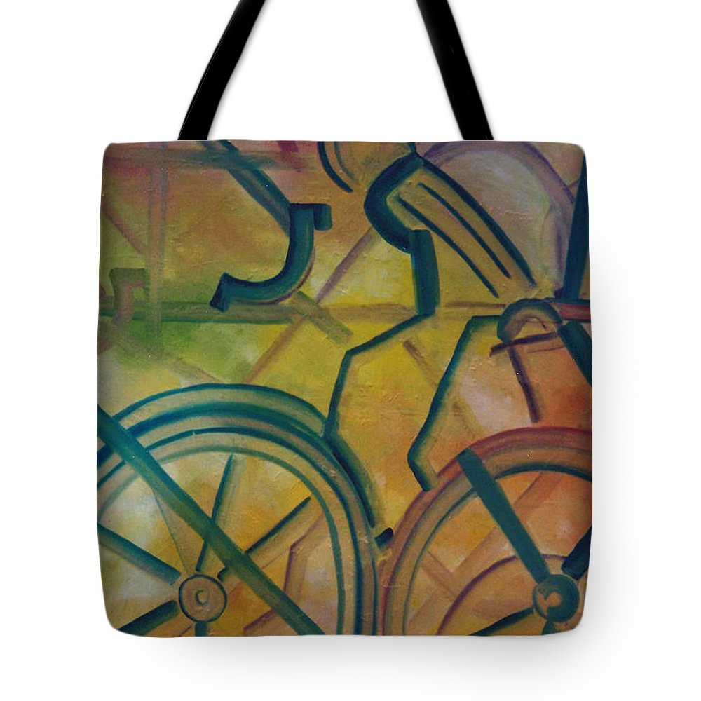 Race Tote Bag featuring the painting The Race by Lord Frederick Lyle Morris - Disabled Veteran