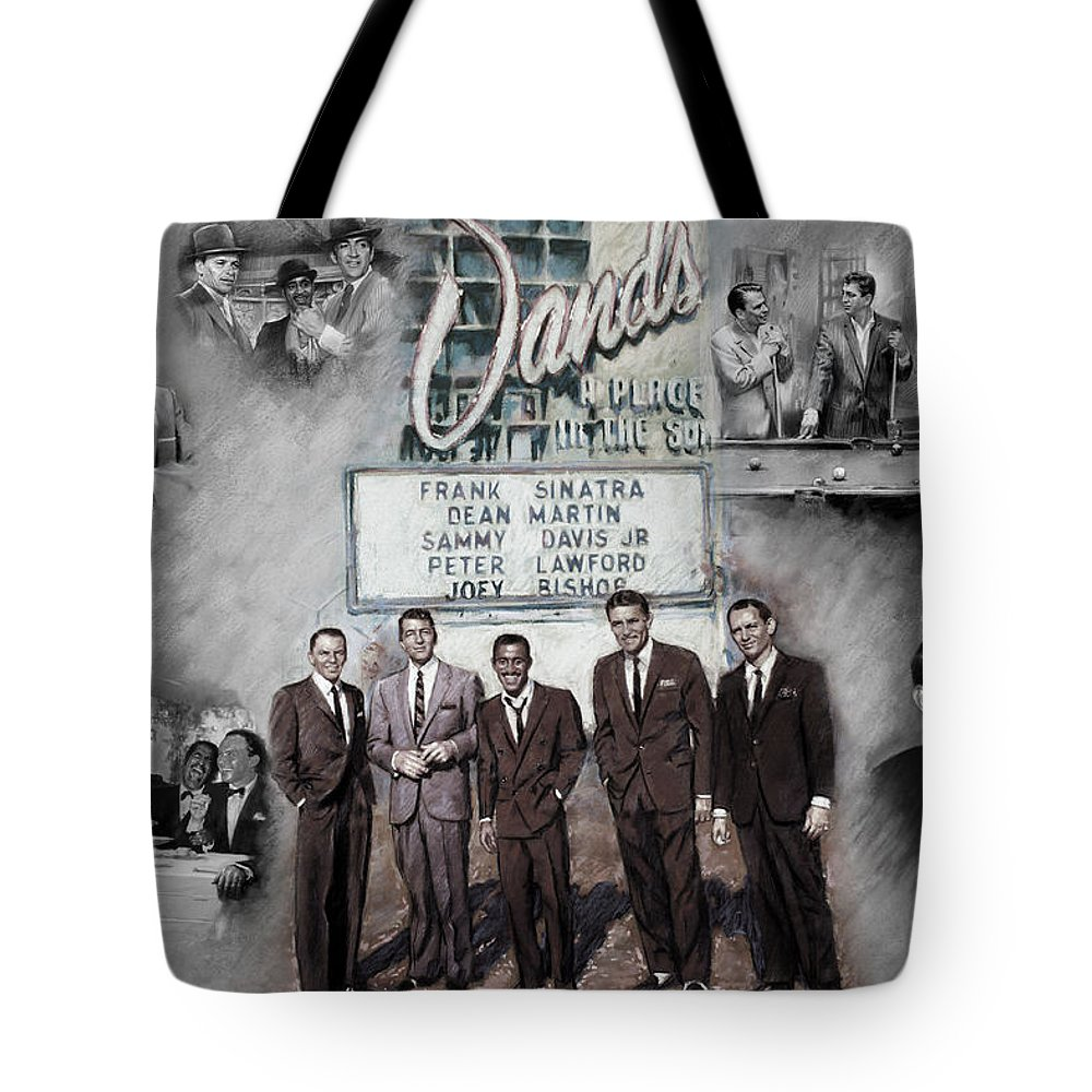 The Summit Tote Bag featuring the mixed media The Rat Pack by Viola El
