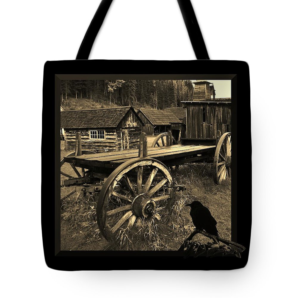Western Tote Bag featuring the photograph The Raven Flies Straight by Barbara St Jean