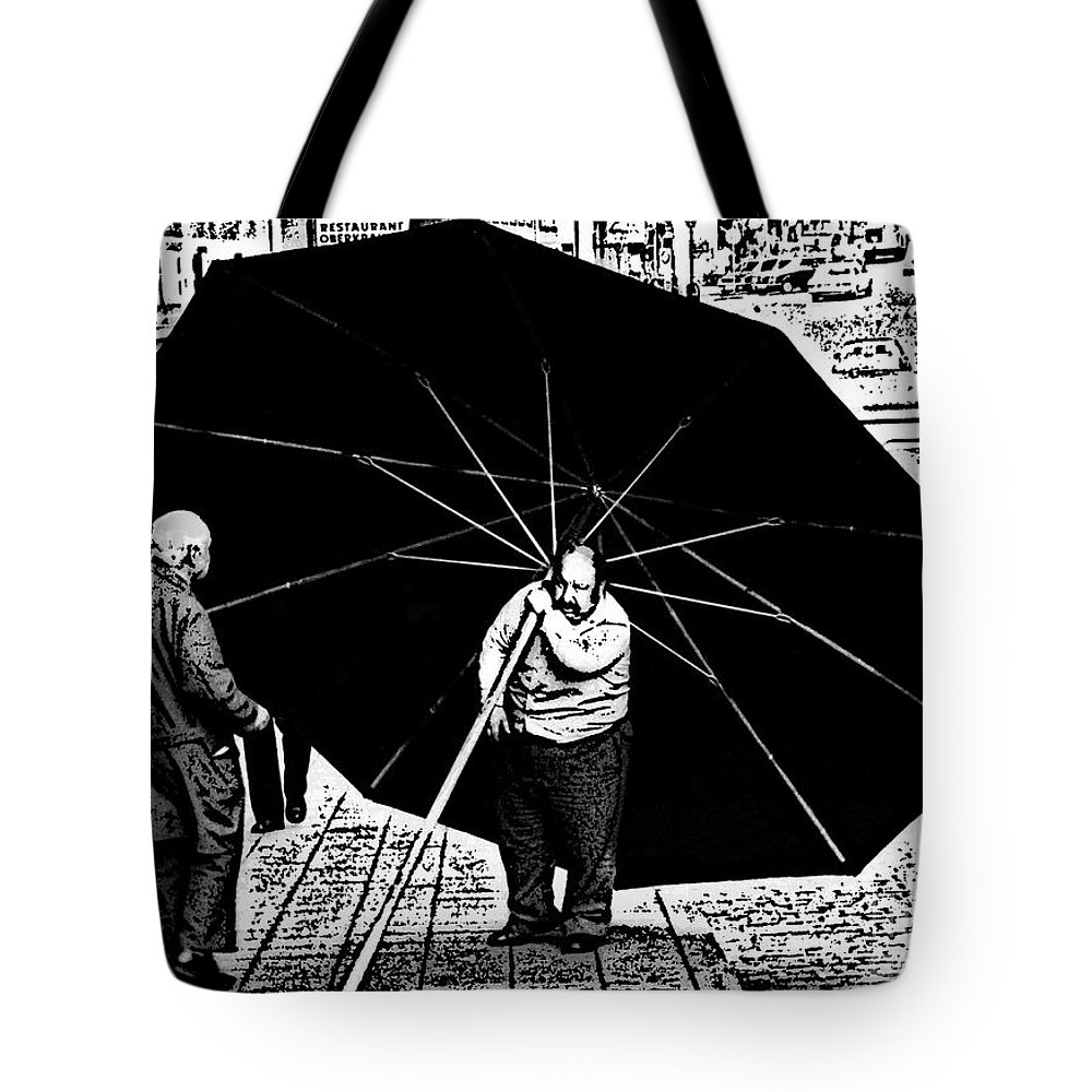 Umbrella Tote Bag featuring the photograph The Really Big Umbrella by Jeff Breiman