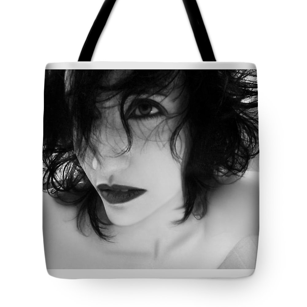 Enchanting Tote Bag featuring the photograph The Realm In-between - Self Portrait by Jaeda DeWalt