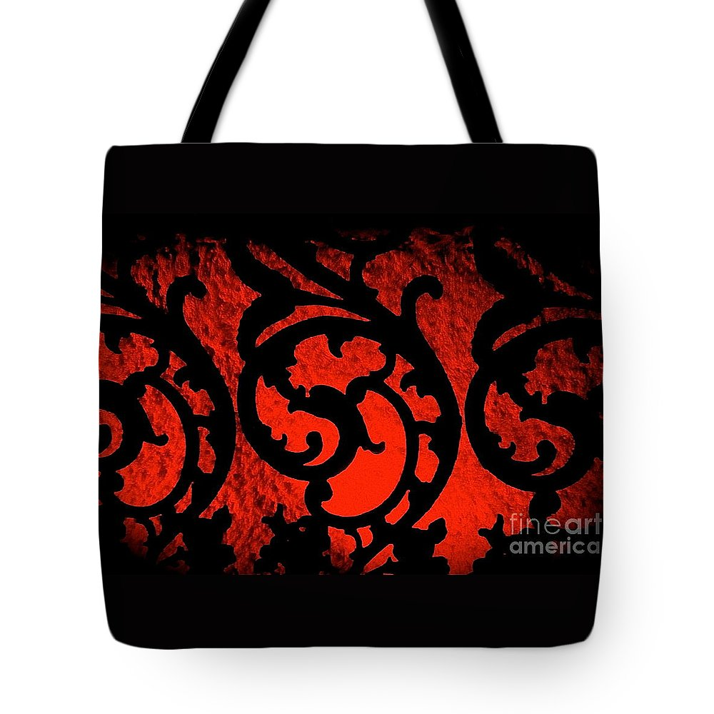 Red Tote Bag featuring the photograph The Red Room by Sarah Beggs