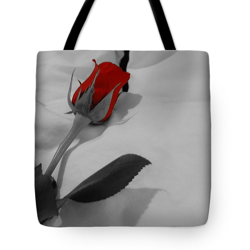 Rose Tote Bag featuring the photograph The Red Rose by Kim Blaylock