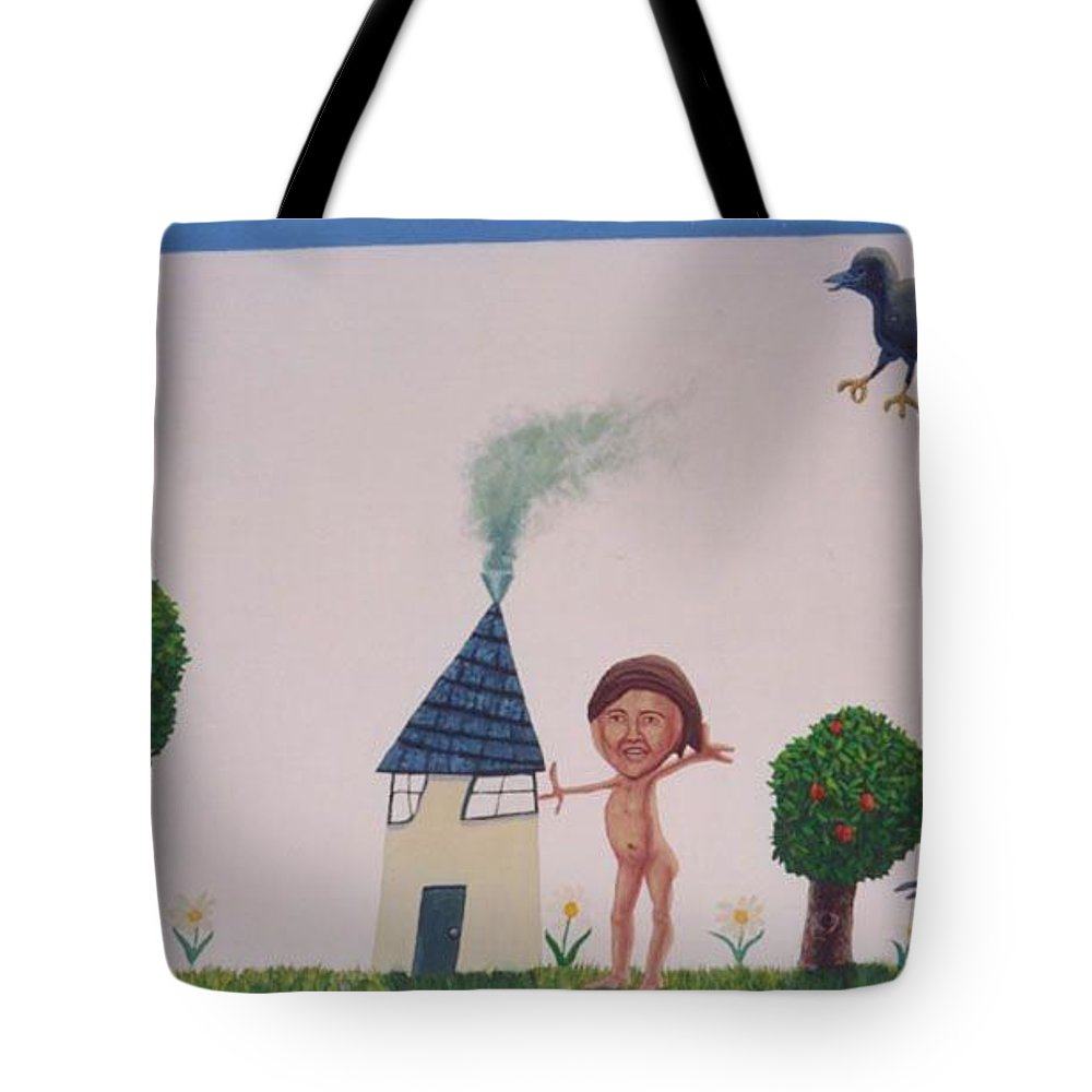Children's Art Tote Bag featuring the painting The Relative Redemption Of Annette Bening by Mark Benton