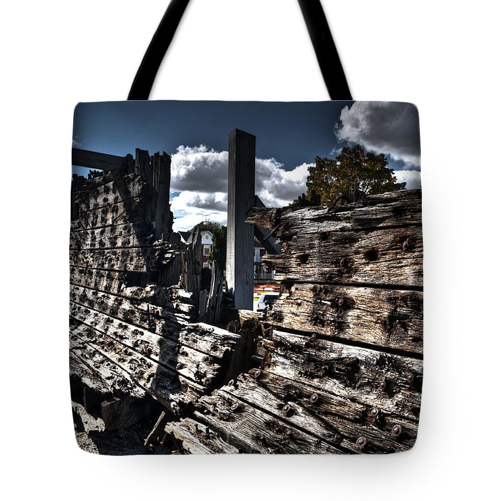 Maritime Tote Bag featuring the photograph The Remains Of The Lottie Cooper by Deborah Klubertanz