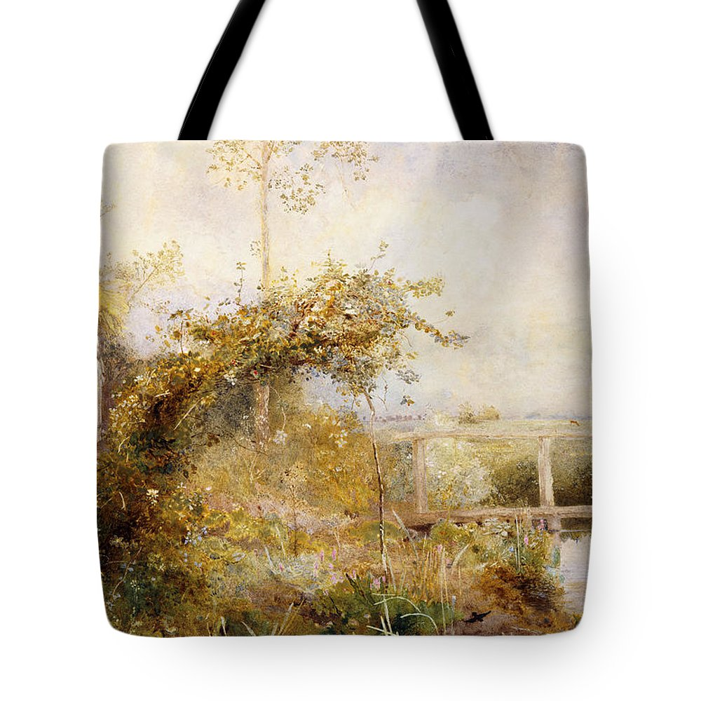 British Tote Bag featuring the painting The Return From The Harvest Field by John William North