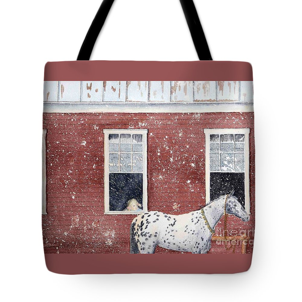Horses Tote Bag featuring the painting The Ride Home by LeAnne Sowa