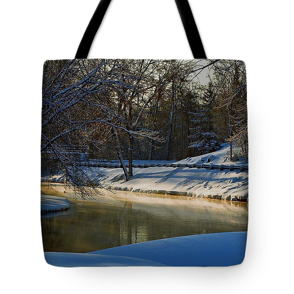 River Tote Bag featuring the photograph The River Bend by Thomas Young