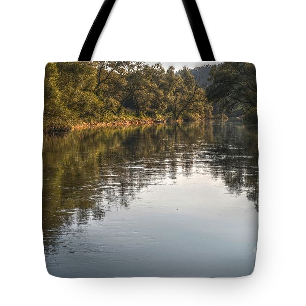 Area Tote Bag featuring the photograph The River by Martin Capek