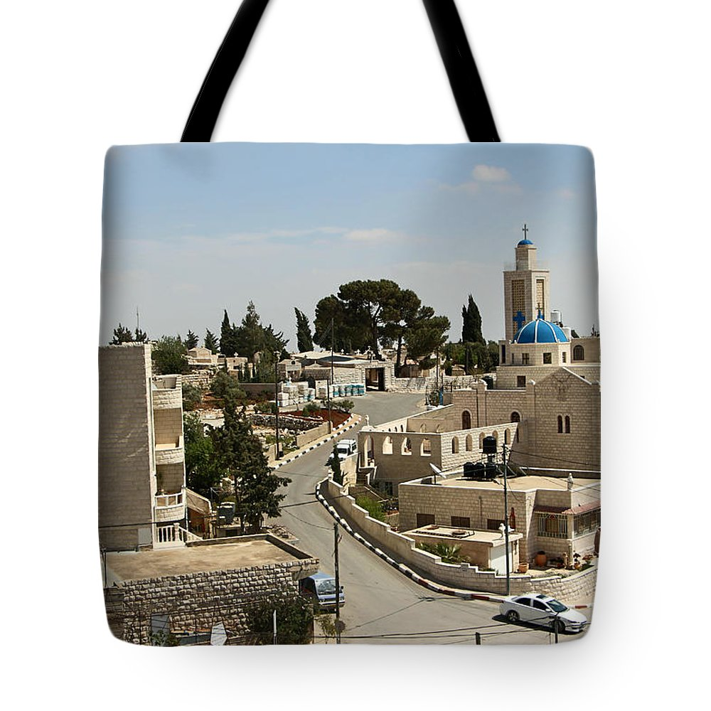 Road Tote Bag featuring the photograph The Road To St. George Ruins by Munir Alawi