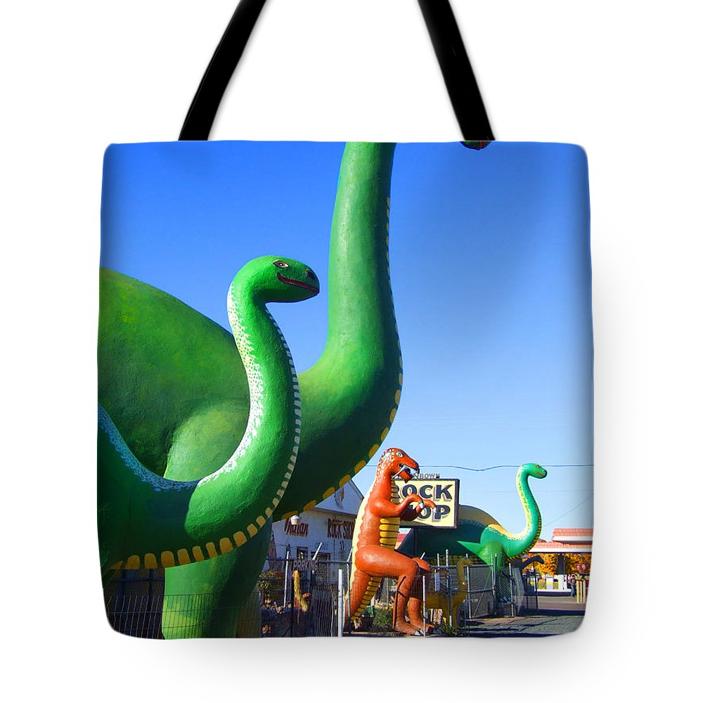 Holbrook Tote Bag featuring the photograph The Rock Shop Just Off Route 66 by Mike McGlothlen