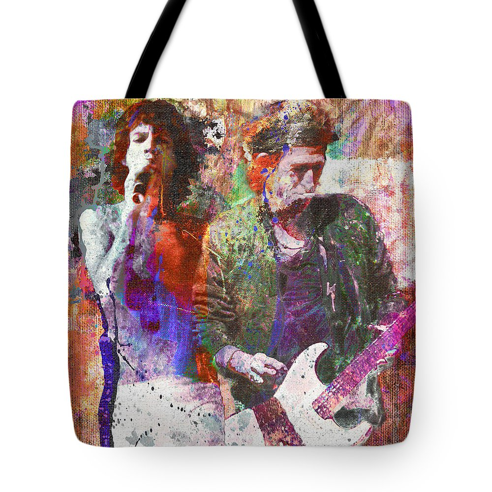 Rock N Roll The Rolling Stones Tote Bags