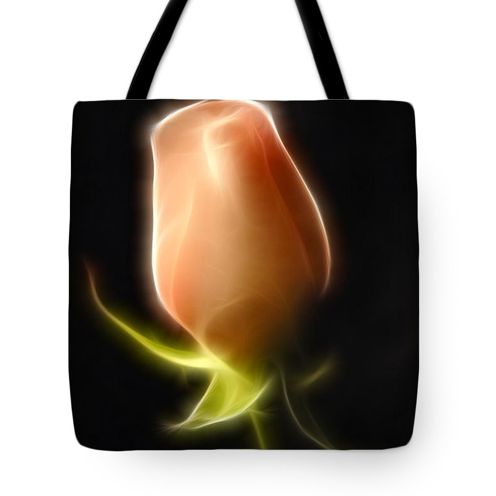 Rose Tote Bag featuring the painting The Rose by Francine Dufour Jones