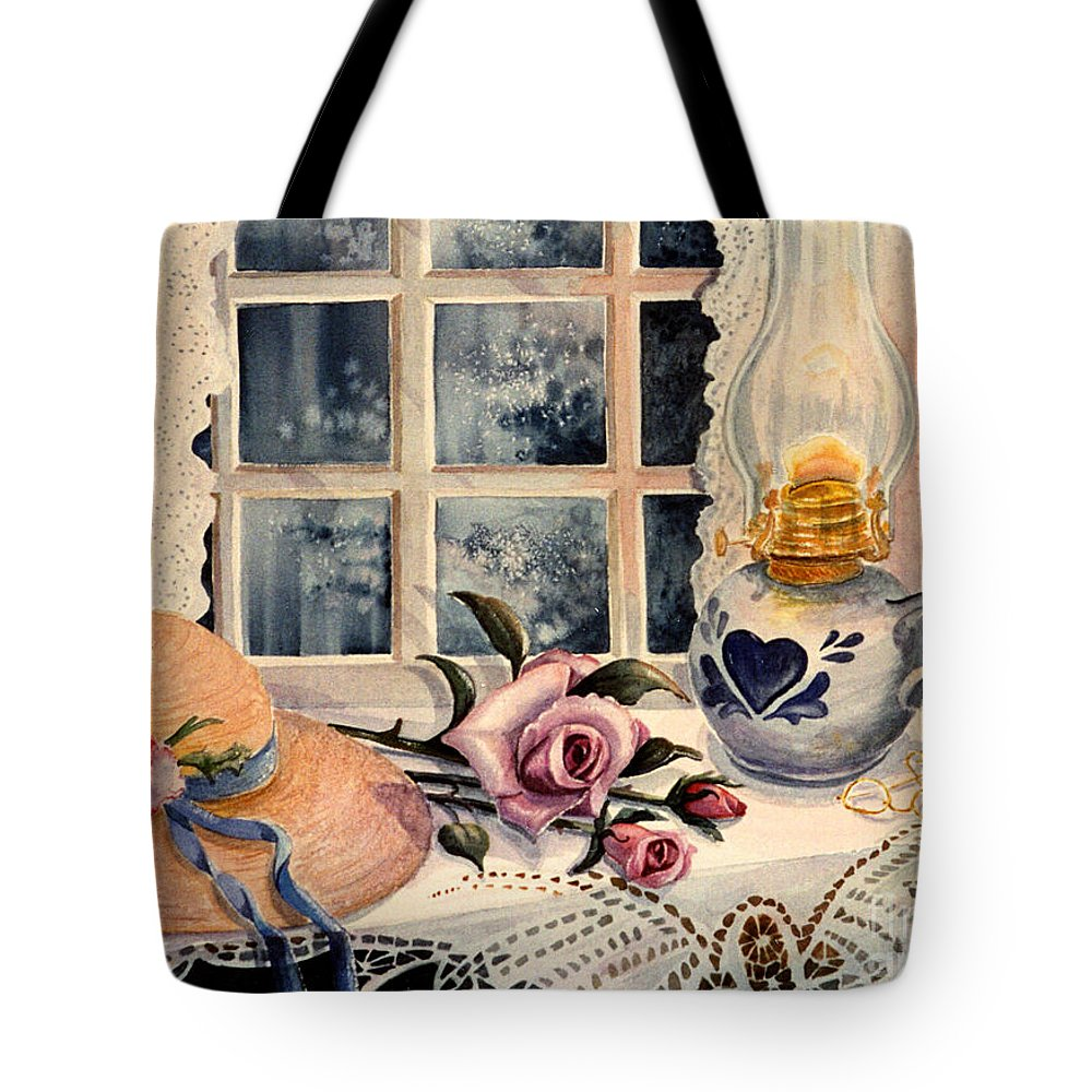 Roses Tote Bag featuring the painting The Rose by Marilyn Smith