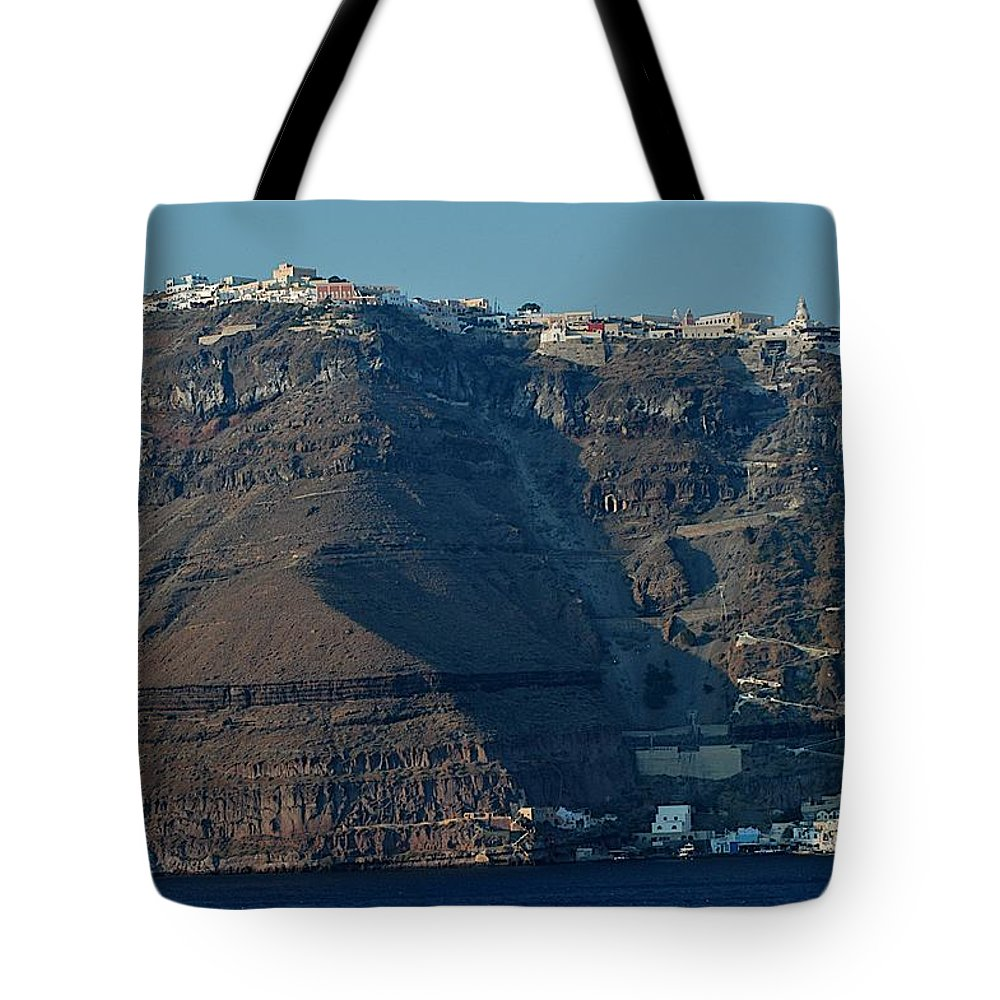 Aegean Sea Tote Bag featuring the photograph The Route Up by Joseph Yarbrough