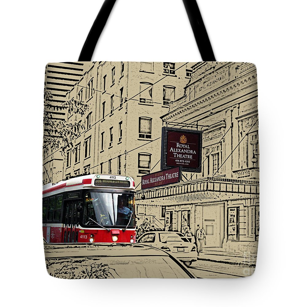 Ttc Tote Bag featuring the photograph The Royal Alex On King Street by Nina Silver