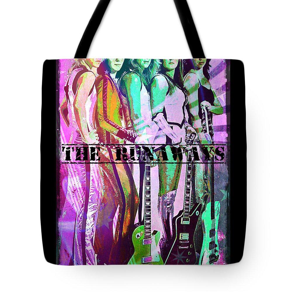 The Runaways Tote Bag featuring the digital art The Runaways by Absinthe Art By Michelle LeAnn Scott