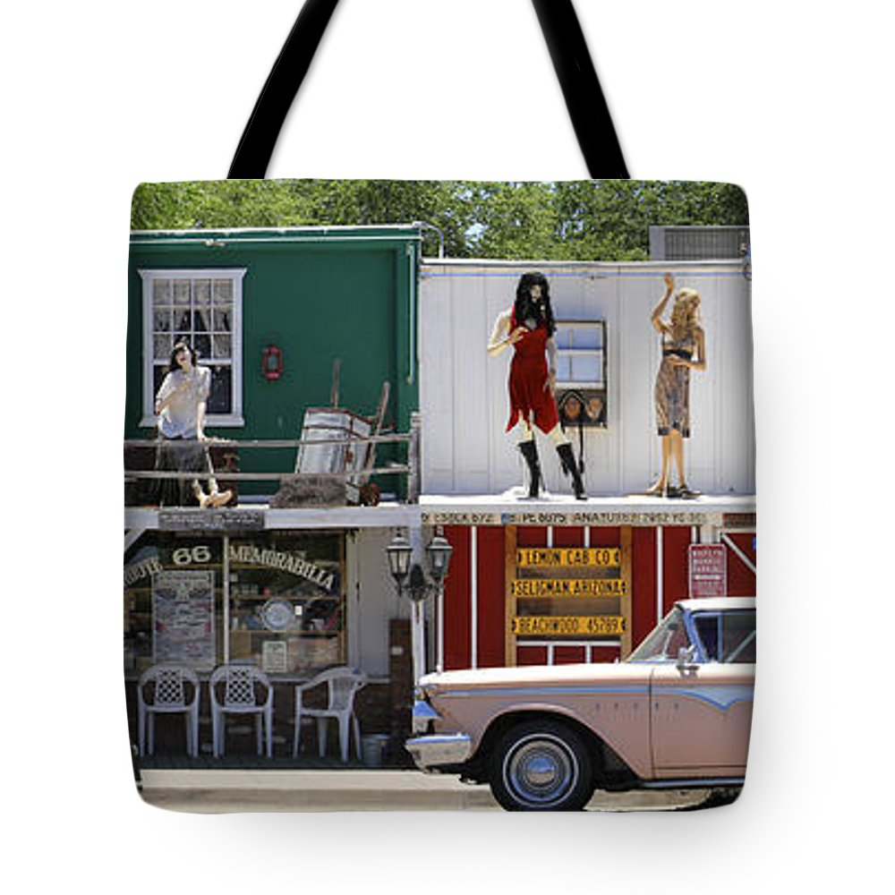 Route 66 Tote Bag featuring the photograph The Rusty Bolt - Route 66 by Mike McGlothlen